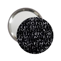 Antique Roman Typographic Pattern 2 25  Handbag Mirrors by dflcprints