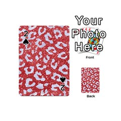 Skin5 White Marble & Red Glitter (r) Playing Cards 54 (mini)  by trendistuff