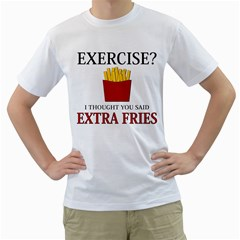 Extra Fries Men s T-shirt (white)  by Catface