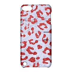 Skin5 White Marble & Red Glitter Apple Ipod Touch 5 Hardshell Case With Stand by trendistuff