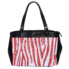Skin4 White Marble & Red Glitter Office Handbags (2 Sides)  by trendistuff
