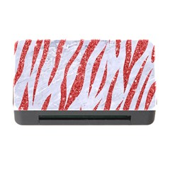 Skin3 White Marble & Red Glitter (r) Memory Card Reader With Cf by trendistuff