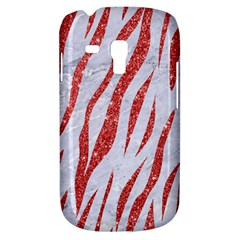 Skin3 White Marble & Red Glitter (r) Galaxy S3 Mini