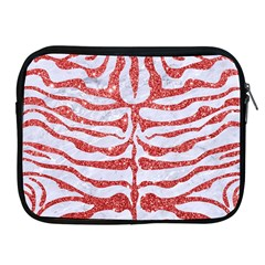 Skin2 White Marble & Red Glitter (r) Apple Ipad 2/3/4 Zipper Cases by trendistuff