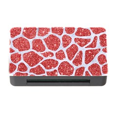 Skin1 White Marble & Red Glitter (r) Memory Card Reader With Cf by trendistuff