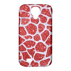 Skin1 White Marble & Red Glitter (r) Samsung Galaxy S4 Classic Hardshell Case (pc+silicone) by trendistuff