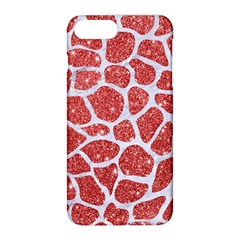 Skin1 White Marble & Red Glitter (r) Apple Iphone 8 Plus Hardshell Case by trendistuff