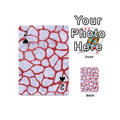 Skin1 White Marble & Red Glitter Playing Cards 54 (mini)  by trendistuff