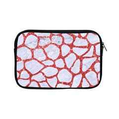 Skin1 White Marble & Red Glitter Apple Ipad Mini Zipper Cases by trendistuff
