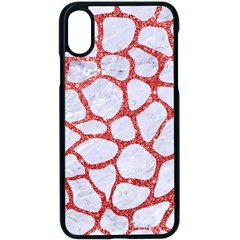 Skin1 White Marble & Red Glitter Apple Iphone X Seamless Case (black)