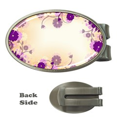 Background Floral Background Money Clips (oval)  by Sapixe