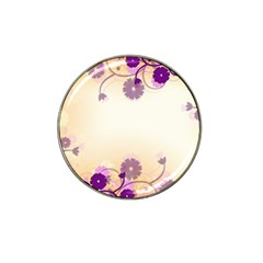 Background Floral Background Hat Clip Ball Marker (4 Pack)
