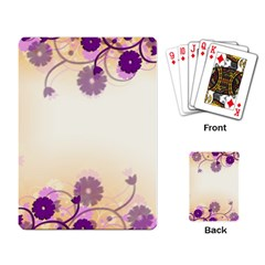 Background Floral Background Playing Card by Sapixe