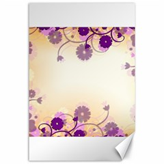 Background Floral Background Canvas 24  X 36