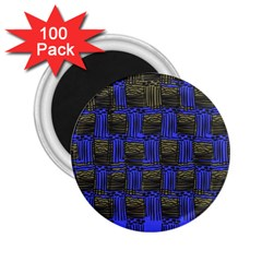 Basket Weave 2 25  Magnets (100 Pack)  by Sapixe