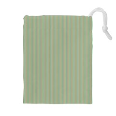 Background Pattern Green Drawstring Pouches (extra Large) by Sapixe