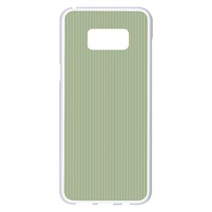 Background Pattern Green Samsung Galaxy S8 Plus White Seamless Case by Sapixe