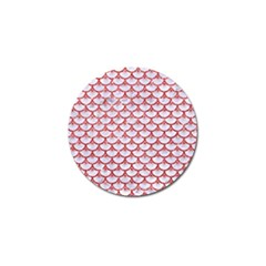 Scales3 White Marble & Red Glitter (r) Golf Ball Marker (10 Pack) by trendistuff