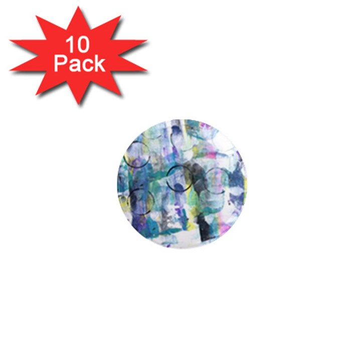 Background Color Circle Pattern 1  Mini Magnet (10 pack)