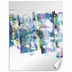 Background Color Circle Pattern Canvas 12  X 16   by Sapixe
