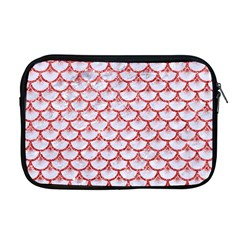 Scales3 White Marble & Red Glitter (r) Apple Macbook Pro 17  Zipper Case by trendistuff