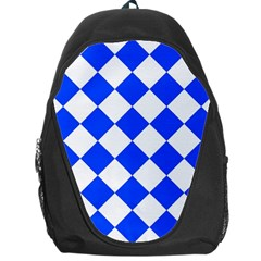 Blue White Diamonds Seamless Backpack Bag