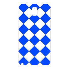 Blue White Diamonds Seamless Samsung Galaxy Note 3 N9005 Hardshell Back Case by Sapixe