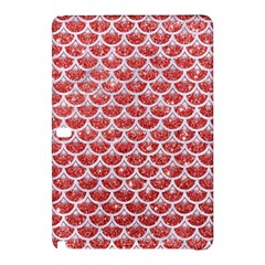 Scales3 White Marble & Red Glitter Samsung Galaxy Tab Pro 12 2 Hardshell Case by trendistuff