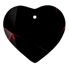 Black Light Dark Figures Heart Ornament (two Sides) by Sapixe