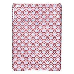 Scales2 White Marble & Red Glitter (r) Ipad Air Hardshell Cases by trendistuff