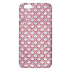 Scales2 White Marble & Red Glitter (r) Iphone 6 Plus/6s Plus Tpu Case by trendistuff