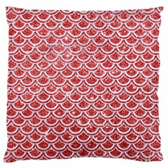Scales2 White Marble & Red Glitter Standard Flano Cushion Case (one Side) by trendistuff