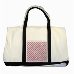 Scales1 White Marble & Red Glitter (r) Two Tone Tote Bag by trendistuff