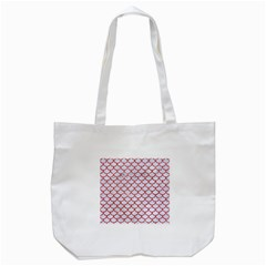 Scales1 White Marble & Red Glitter (r) Tote Bag (white) by trendistuff
