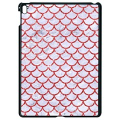 Scales1 White Marble & Red Glitter (r) Apple Ipad Pro 9 7   Black Seamless Case by trendistuff