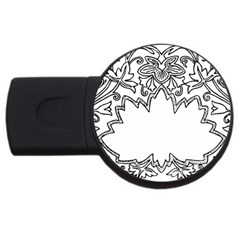 Bouquet Flower Decoration Pattern Usb Flash Drive Round (2 Gb)