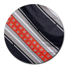 Bed Linen Microfibre Pattern Round Mousepads by Sapixe