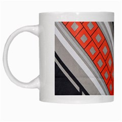 Bed Linen Microfibre Pattern White Mugs