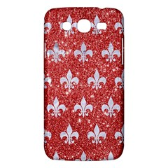 Royal1 White Marble & Red Glitter (r) Samsung Galaxy Mega 5 8 I9152 Hardshell Case  by trendistuff