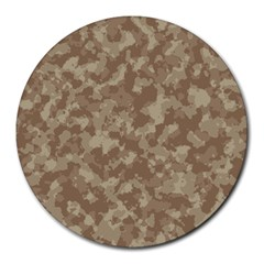 Camouflage Tarn Texture Pattern Round Mousepads by Sapixe