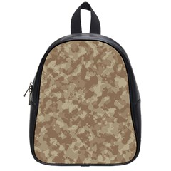 Camouflage Tarn Texture Pattern School Bag (small) by Sapixe