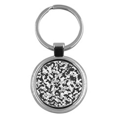 Camouflage Tarn Texture Pattern Key Chains (round)  by Sapixe