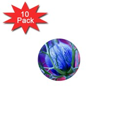 Blue Flowers With Thorns 1  Mini Magnet (10 Pack)