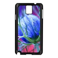 Blue Flowers With Thorns Samsung Galaxy Note 3 N9005 Case (black)
