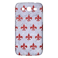 Royal1 White Marble & Red Glitter Samsung Galaxy Mega 5 8 I9152 Hardshell Case  by trendistuff
