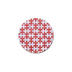 Puzzle1 White Marble & Red Glitter Golf Ball Marker (10 Pack) by trendistuff