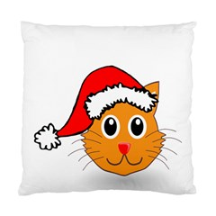 Cat Christmas Cartoon Clip Art Standard Cushion Case (one Side)