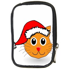 Cat Christmas Cartoon Clip Art Compact Camera Cases