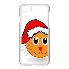 Cat Christmas Cartoon Clip Art Apple Iphone 8 Seamless Case (white) by Sapixe