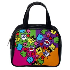 Cartoon Pattern Classic Handbags (one Side)